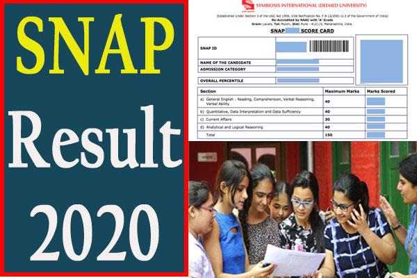 SNAP Result 2020 declared