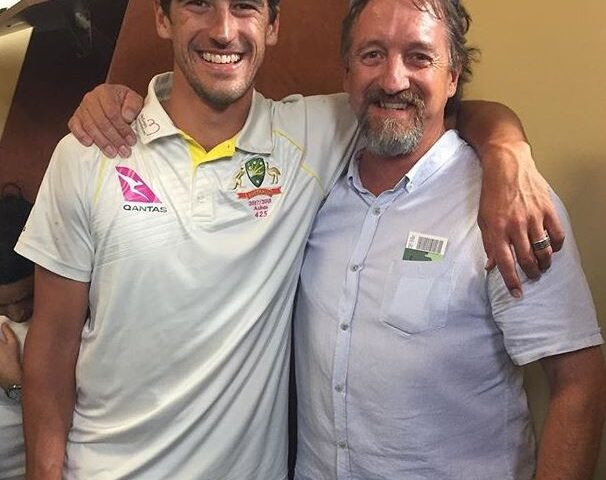 Mitchell starc with his father paul starc